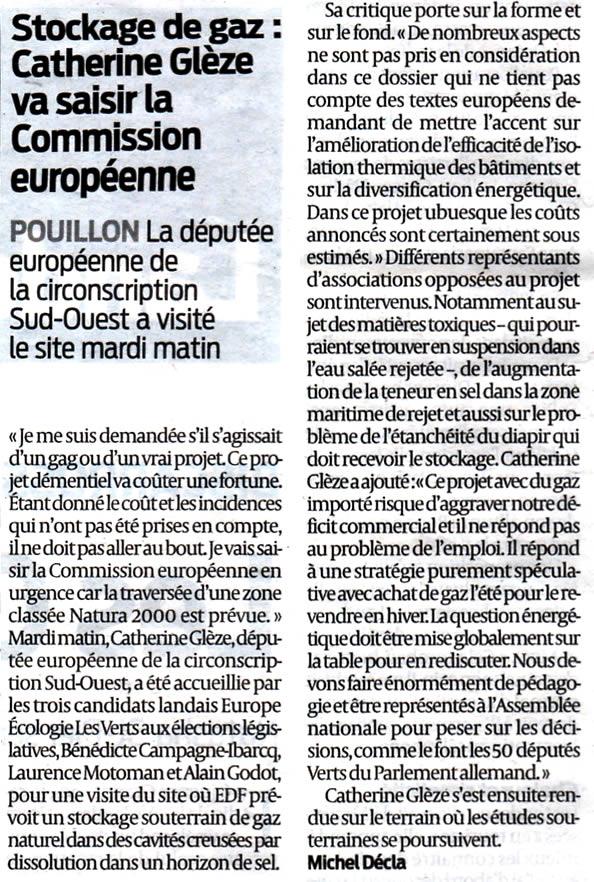 Catherine Grèze - stockage-gaz-landes.net contre Salins des Landes