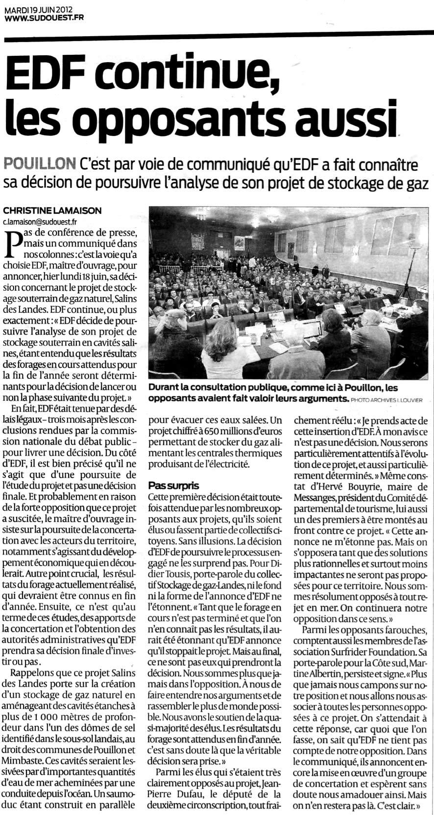 Stockage-gaz-landes.net - Forte opposition au projet d'EDF Salins des Landes