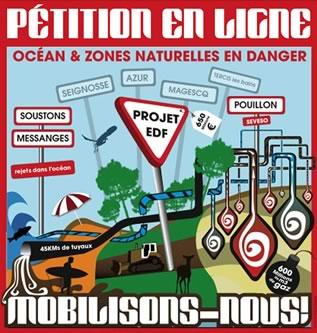 NON au Stockage de gaz Landes EDF - Pétition en ligne
