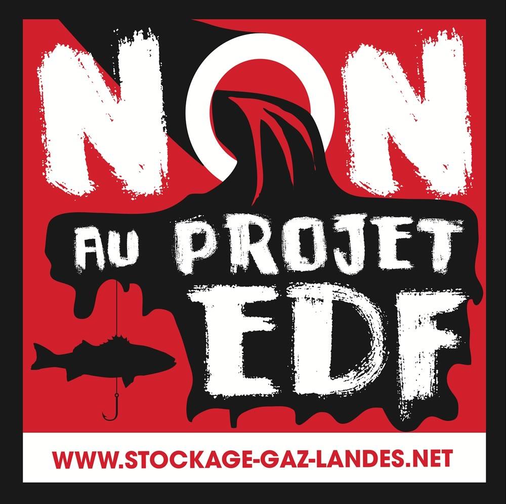 drapeau des pêcheurs - stockage-gaz-landes EDF Salins des Landes