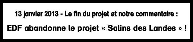 EDF abandonne le projet « Salins des Landes » !